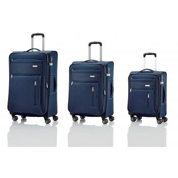 30a93e7e4d555 CAPRI Zestaw walizek L/M/S + Torba pokładowa